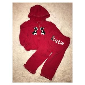 Gymboree Poppy Love Red Cutie Outfit Size 2T